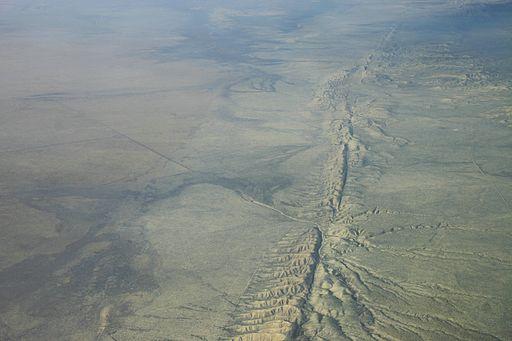 San-Andreas-Verwerfung aus der Luft