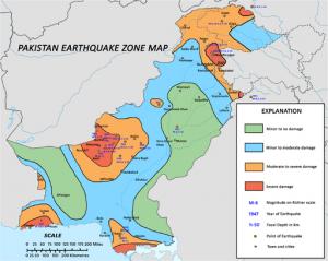 Zerstörungen durch Erdbeben in Pakistan