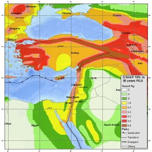 Erdbebenwahrscheinlichkeit in der Türkei
